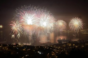 New Year in Valparaiso, Chile.